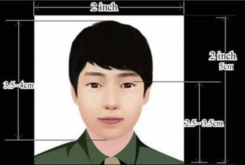 印度签证照片模板